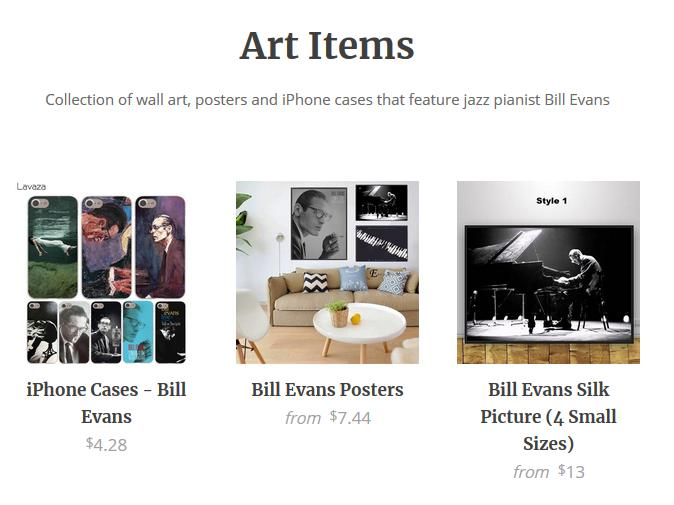 Bill Evans Art Items